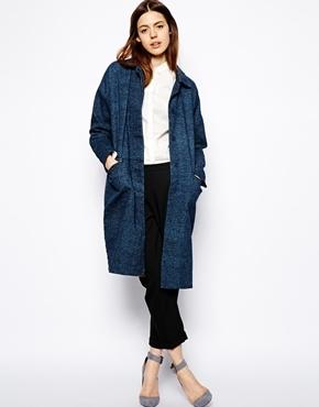 Asos Denim Duster Coat - Blue