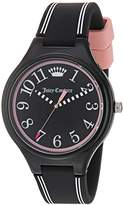 Juicy Couture Women's 'DAY DREAMER' Quartz Plastic and Silicone Casual Watch, Color:Black (Model: 1901562)