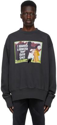 we11done Grey Horror Movie Sweatshirt