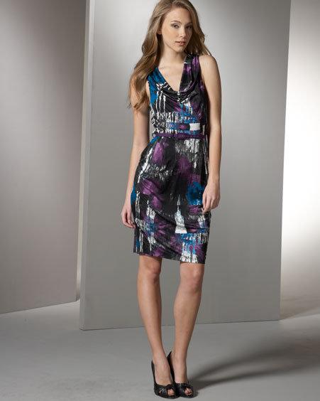 Catherine Malandrino Belted Silk Jersey Dress