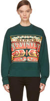 Juun.J Green The Pre-Vinylite Society Sweatshirt
