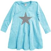 Urban Smalls Aqua Weathered Star A-Line Dress - Toddler & Girls