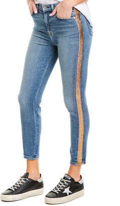 7 For All Mankind Luxe Vintage Light Blue Wash High-Waist Ankle Skinny Leg