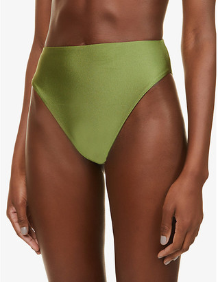 JADE SWIM Incline high-rise bikini bottoms