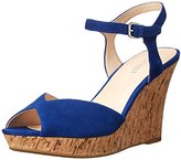 Nine West Women's Bigeasy Suede Wedge Sandal