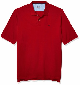 Chaps Men's Big & Tall Park Avenue Red Short Sleeve Classic Fit Everyday Polo Shirt-B&T 2XLT
