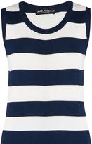 Dolce & Gabbana Rigato striped silk-jersey sleeveless top