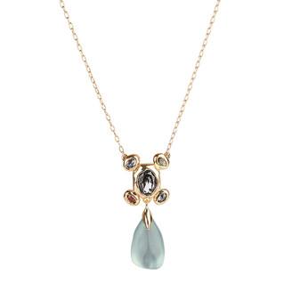 Alexis Bittar Byzantine Stone Cluster Drop Pendant Necklace