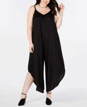 MSK Plus Size Asymmetrical Wide-Leg Jumpsuit