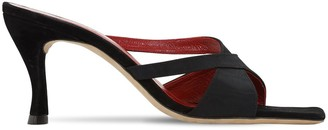 BY FAR 75mm Kitty Grosgrain Sandals
