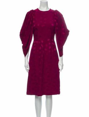 Co Printed Midi Length Dress w/ Tags Pink