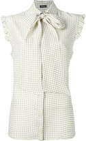 Kiton printed sleeveless shirt - women - Silk - 42