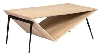 Brayden Studio Belvedere Asymmetric Contemporary Coffee Table Brayden Studio