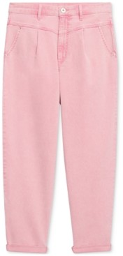 INC International Concepts Inc Yoke-Front Tapered Pink Ankle Jeans, Created for Macy's