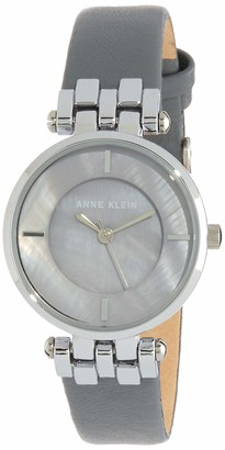 Anne Klein Womens Analogue Classic Quartz Watch with Leather Strap AK/N2685GMGY