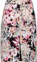 L'Agence Mackenzie printed silk skirt