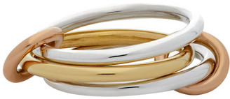 Spinelli Kilcollin Silver and Gold Solarium Three-Link Ring