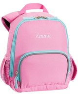 Pottery Barn Kids Pre-K Backpack, Fairfax Pink/Aqua Solid