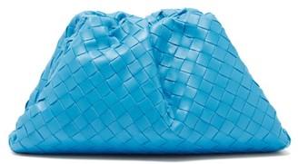 Bottega Veneta The Pouch Intrecciato Leather Clutch Bag - Blue