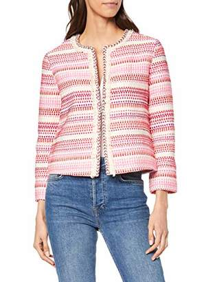 Tom Tailor Casual Women's 09566 Suit Jacket, (Pink red bouclee 767), UK