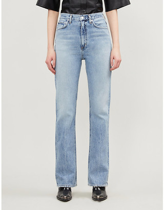 AGOLDE Vintage high-rise organic cotton jeans