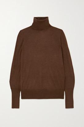 Victoria Beckham Silk Turtleneck Sweater - Brown