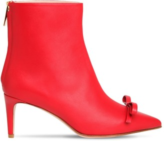 RED Valentino 60mm Leather Ankle Boots