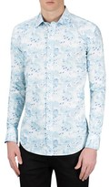 Bugatchi Men's Classic Fit Bird Print Sport Shirt