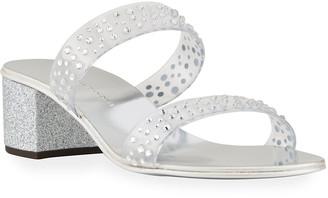 Giuseppe Zanotti Embellished Two Band Slide Sandals