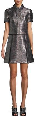 Burberry Metallic A-Line Dress