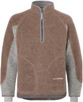 And Wander - Wool-Blend Fleece Half-Zip Sweater