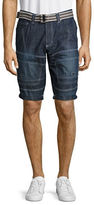 Point Zero Adjustable Denim Shorts with D-Ring Belt