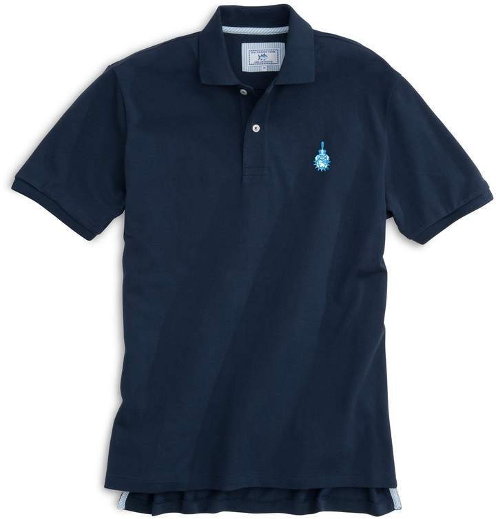 Southern Tide Citadel Bulldogs Pique Polo Shirt