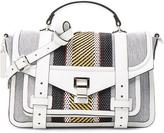 Proenza Schouler Medium PS1+ Woven Stripes
