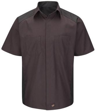 Red Kap Men's Short Sleeve Color Block Shirt