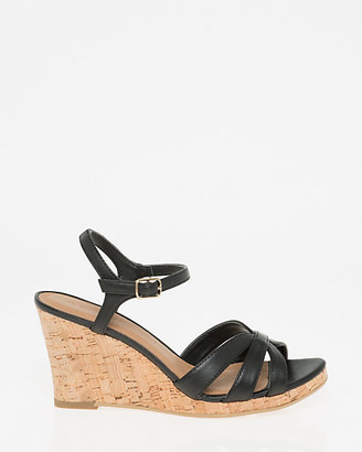 Le Château Leather Open Toe Wedge Sandal