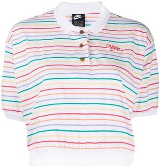 Nike Logo Striped Polo Shirt