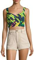 Tracy Reese Women's Printed Crop Top