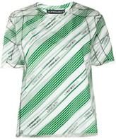 Y/Project striped logo-print T-shirt