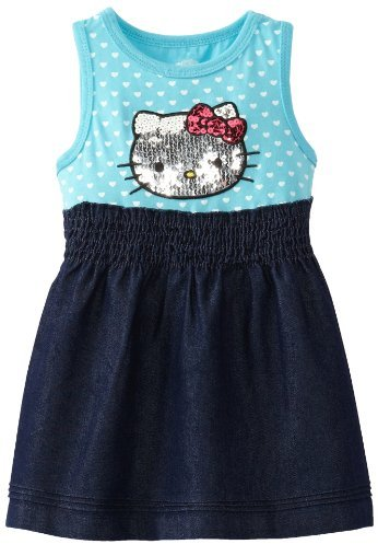 Hello Kitty Girl's Dress with Sequin