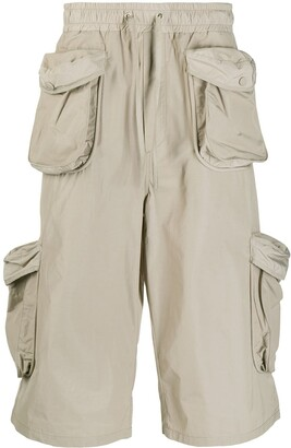 Sunnei Elasticated Cargo Shorts