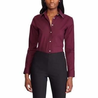 Chaps Women's Petite Long Sleeve Non Iron Broadcloth-Shirt