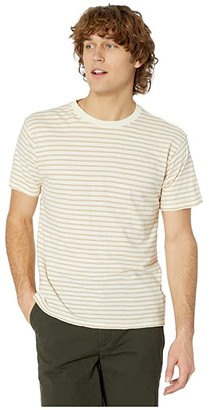 RVCA Automatic Stripe (Light Yellow) Men's Clothing