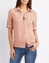 Charlotte Russe Collared Button-Up Shirt