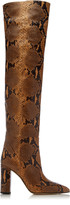 Paris Texas Snake-Effect Leather Over-The-Knee Boots