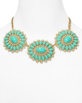 """Carolee Floral Stone Statement Necklace, 16"""""""
