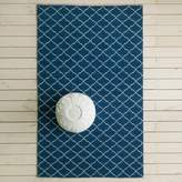 Graham and Green Aztec Navy And White Rug