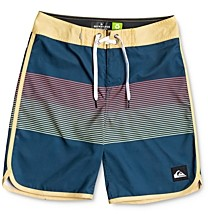 Quiksilver Boys' Everyday Grassroots Color-Blocked Swim Trunks - Little Kid