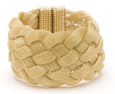 Wide Mesh Bracelet in Gold or Oxidized Gold
