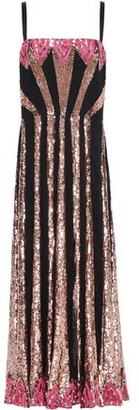 Temperley London Sycamore Satin-trimmed Sequin-embellished Tulle Midi Dress